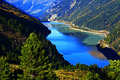 barrier lake tyrol Royalty Free Stock Photo
