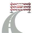 Barrier on the road illustration Royalty Free Stock Images