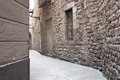 Barrio gotico ancient streets of gotic quarter in barcelona spain Stock Image