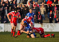 Barrow Raiders  v Leigh Centurions Stock Photo