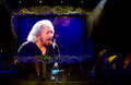 Barry gibb surviving member of the bee gees in concert in brisbane australia Stock Photo