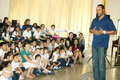 Barry Larkin Speaks to Students Stock Photo