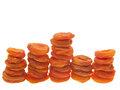 The bars of dried apricots. Stock Images