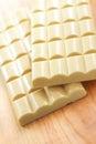 Bars of white porous chocolate