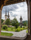 Barsana monastery, the main attractions in Maramures, Romania Royalty Free Stock Photo