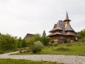 Barsana monastery in maramures transylvania Stock Photo