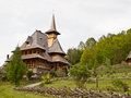 Barsana monastery in maramures transylvania Royalty Free Stock Photo
