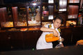 Bartender the was mixing drinks at a hotel bar in the city of solo central java indonesia Stock Photos