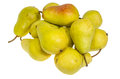 Bartlett pears just ripe and ready to eat group of yellow Stock Images