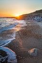 Barton on sea hampshire england sunset at uk europe Stock Photo