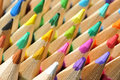 Barwioni ołówki Fotografia Royalty Free