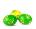 Barwioni Wielkanocni jajka Fotografia Royalty Free