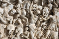 Bas-relief of ancient Roman soldiers Royalty Free Stock Photo
