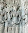 Bas-relief at Angkor Wat Stock Image