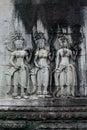 Bas-relief at Angkor Wat Royalty Free Stock Image