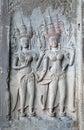 Bas relief, Angkor Wat, Cambodia Royalty Free Stock Image