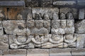 Bas relief in borobudur temple jogjakarta east java indonesia Royalty Free Stock Photo