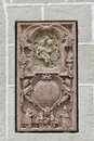 Bas relief closeup in st peter collegiate church salzburg austria ancient on the wall of Royalty Free Stock Photography