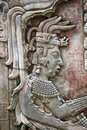 Bas-relief of the mayan king Pakal in Palenque Royalty Free Stock Photo