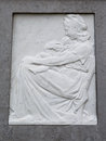 Bas relief of mother with young child marble Royalty Free Stock Photography