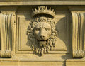 Bas relief on the palazzo pitti florence Stock Photo