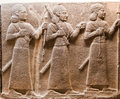 Bas relief three priests profiles museum anatolian civilizations ankara turkey Royalty Free Stock Photography