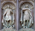 Bas-reliefs of archangel and Nevsky Royalty Free Stock Photography