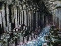 Basalt Column Interior of Fingal`s Cave, Isle of Staff Royalty Free Stock Photo