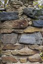 Basalt rock wall background - stone wall surface pattern Royalty Free Stock Photo