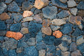 Basalt volcanic rock wall Royalty Free Stock Photo