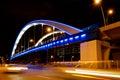 Basarab bridge in the night Royalty Free Stock Photo