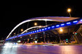 Basarab bridge in the night with traffic bucharest romania Stock Photos