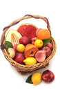 Bascket of fruits Royalty Free Stock Photo