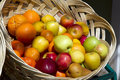 Bascket with fruits Royalty Free Stock Photo