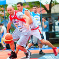 Bascketball  players Royalty Free Stock Photos