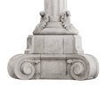 Base ancient marble column on a white background Royalty Free Stock Photography