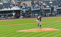 Base-ball de Yankees du Colorado les Rocheuses X New York Photo libre de droits