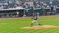 Base-ball de Yankees du Colorado les Rocheuses X New York Photo stock