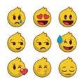 Set emoji with lines edge