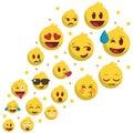 Set of emoji flying... popular