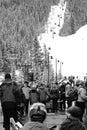 Base of keystone mountain ski lift at colorado Royalty Free Stock Images