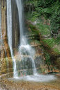 Base of salino waterfall the the in friuli north east italy in the carnia alps alpi carniche Stock Photography