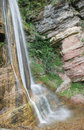 Base of salino waterfall the the in friuli north east italy in the carnia alps alpi carniche Royalty Free Stock Image