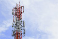 Base Station with blue sky Royalty Free Stock Photo