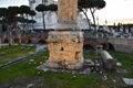Base of the Trajan`s Column