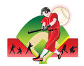 Baseball  abstract illustration Stock Photo