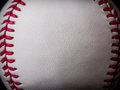 Baseball background close up leather Stock Photography