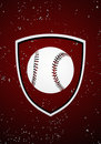 Baseball badge Royalty Free Stock Photography