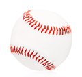 Baseball ball close up of single isolated on white background Royalty Free Stock Photography