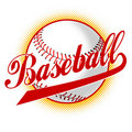 Baseball ball with halftone dots Royalty Free Stock Image